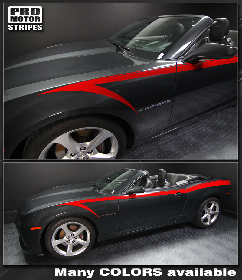 Chevrolet Camaro Devil/'s Tail Side Stripes Decals 2014 2015 Pro Motor