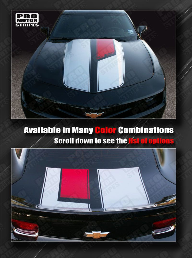 Chevrolet Camaro 2010-2018 Hood Cowl Stripe ZL1 Style Decal Choose Color