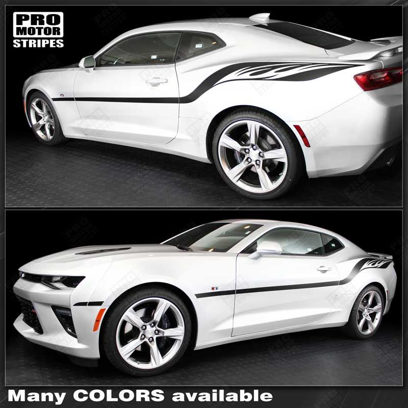 Chevrolet Camaro 2010-2019 Fire Wings Style Side Stripes