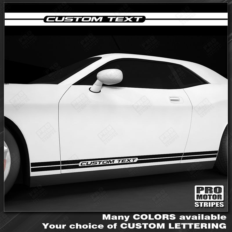 FORD FUSION 2013-2019 Checkered Rocker Panel Side Stripes Decals Choose Color
