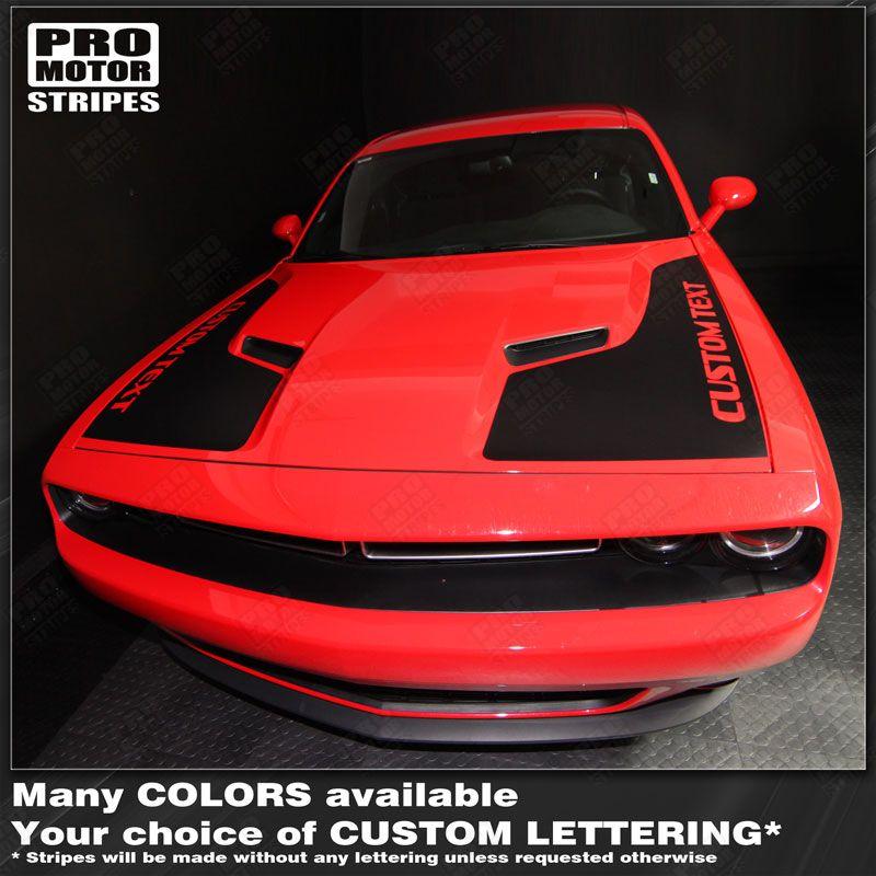 Fender Dodge Challenger 2008-2019 Hood Choose Color Side Dual Stripes Decals