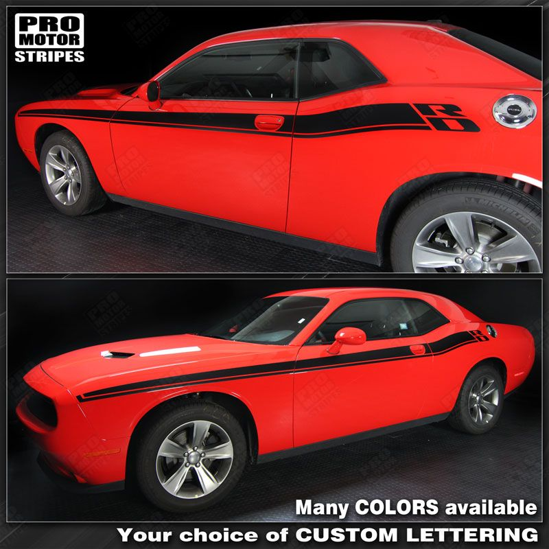 Dodge Challenger New R T Style Side Stripes Decals 2015
