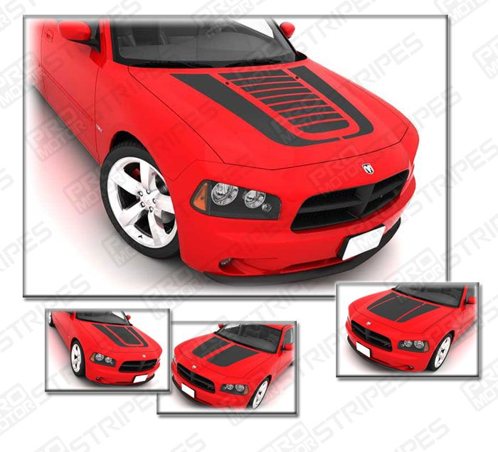 Dodge Charger Hood Graphic Accent Stripes Decals 2006 2007
