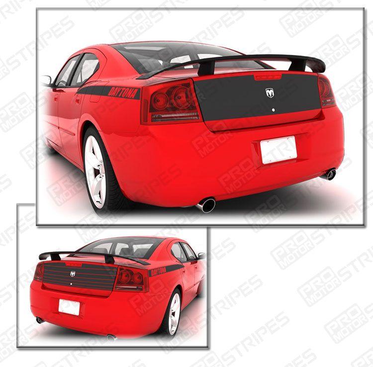 Dodge Charger 2006-2010 Daytona Trunk Deck Blackout Stripe