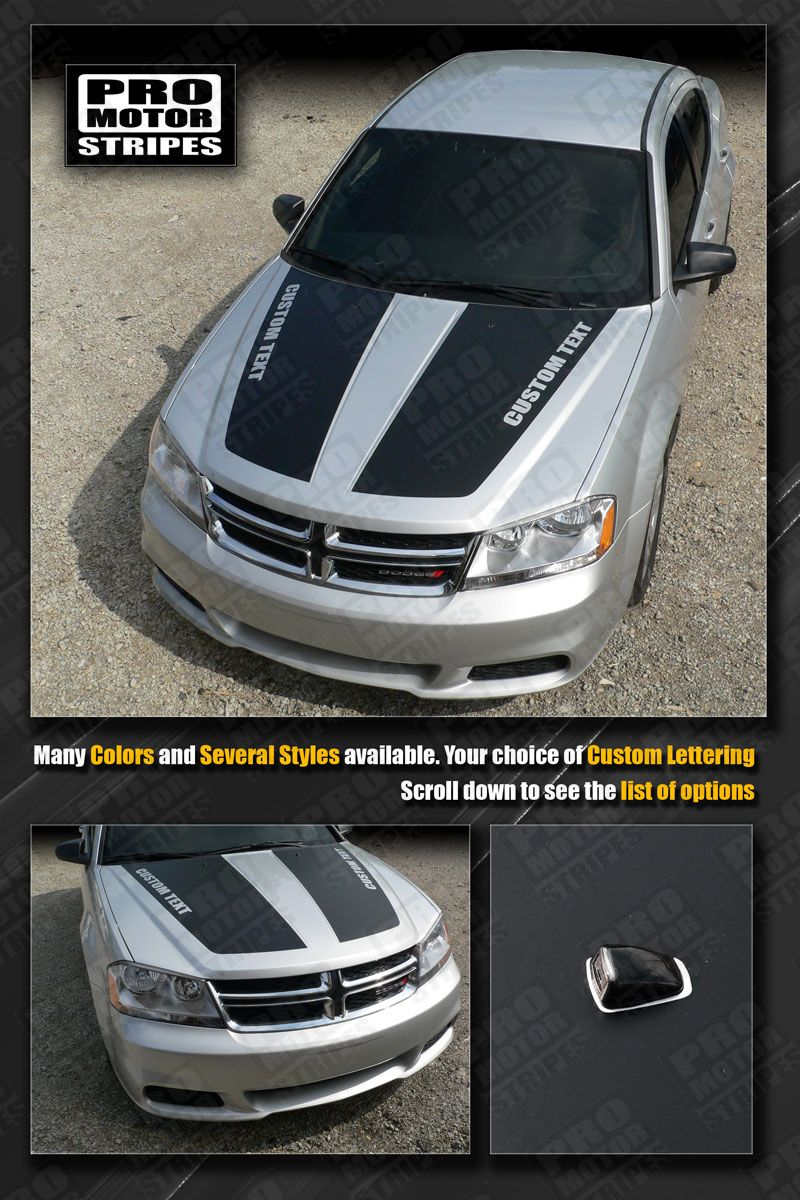 Dodge Avenger Hood Racing Stripes Decals 2011 2012 2013