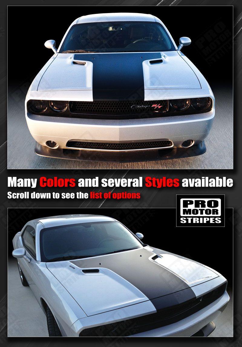 Dodge Challenger 2008-2019 SCAT PACK Style Side Stripes Decals Choose Color