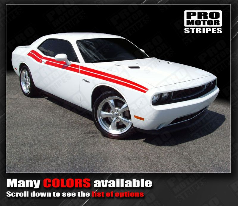Dodge Challenger Factory Style Dual Side R T Stripes 2015