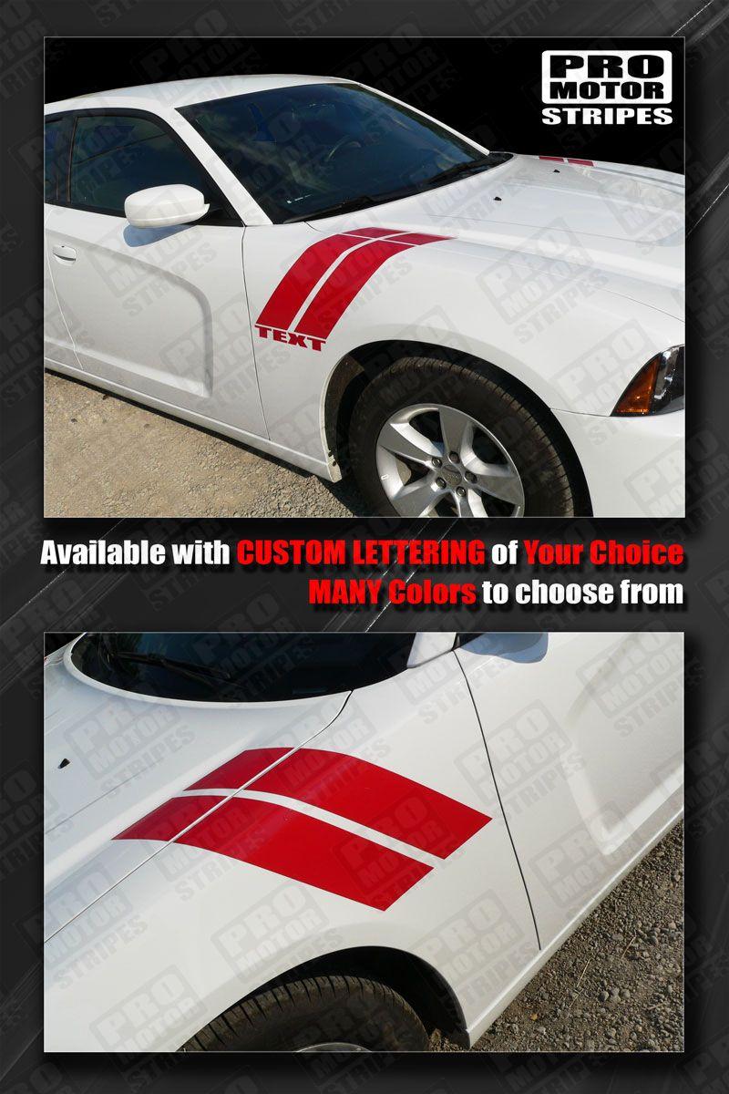 Dodge Caliber 2007-2012 Fender Hash Side Stripes Decals Choose Color