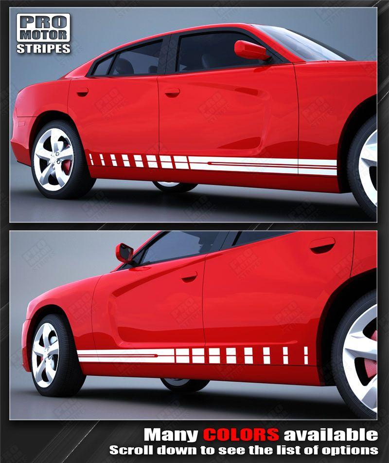 Dodge Charger Rocker Panel Strobe Side Stripes Decals 2015 2016 2017 2018 2019