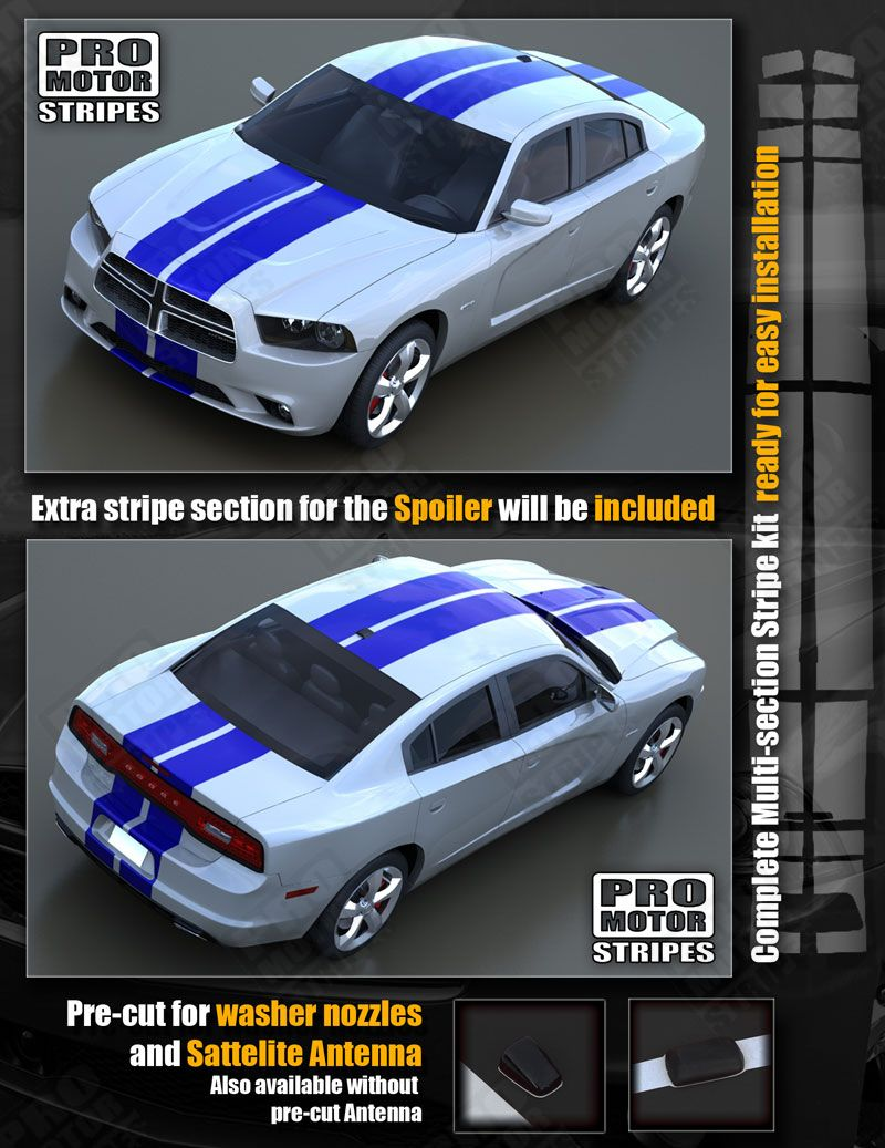 Dodge Charger Rally Racing Double Top Stripes Decals 2011 2012 2013 2014 Ebay