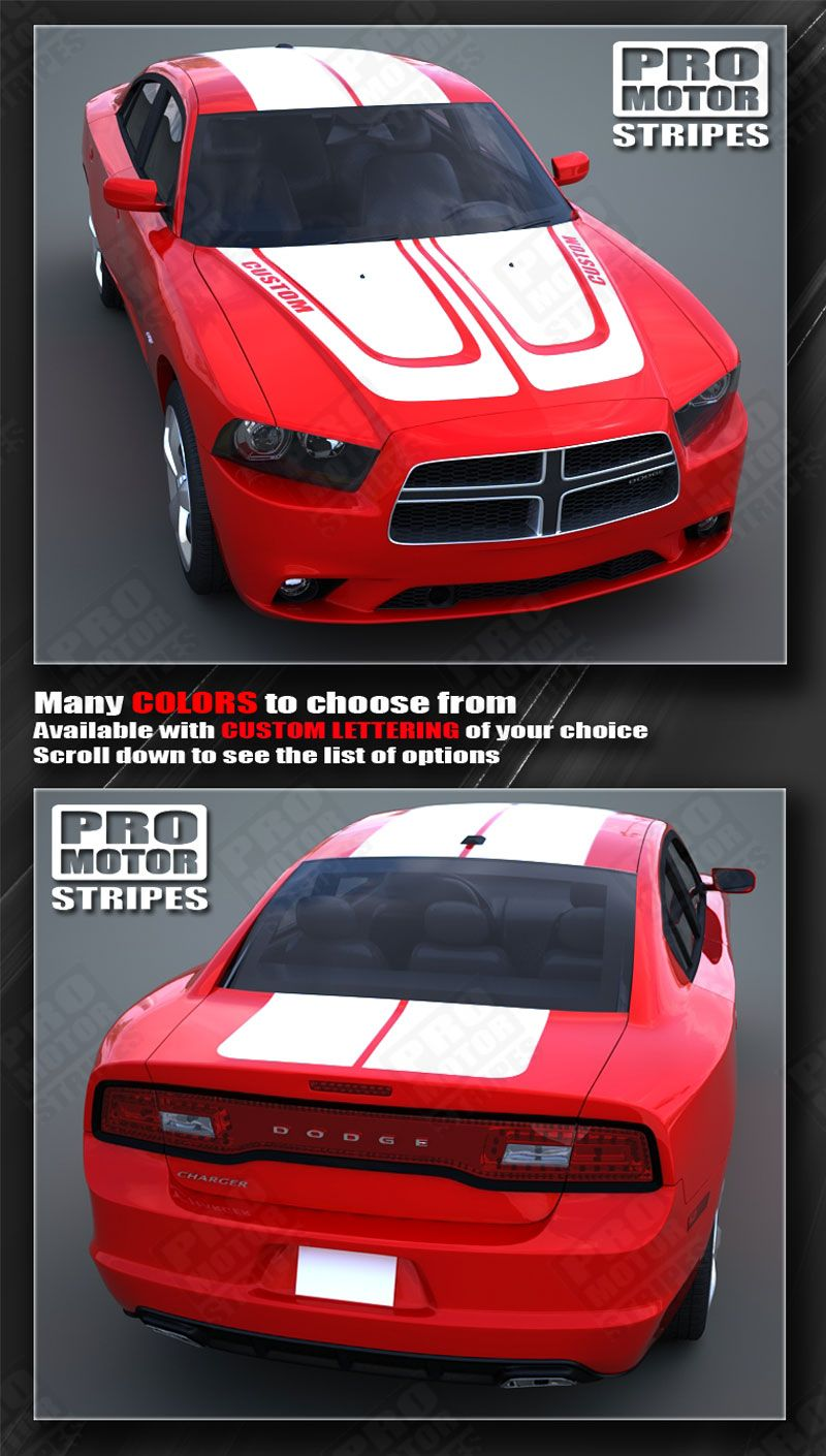 Dodge Charger 2011 2014 Hood And Double Top Racing Stripes
