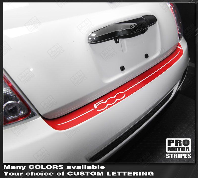 2012 2013 2014 2015 Fiat 500 Alternator 1 4l 2 Door Oem: Fiat 500 Sport Rear Bumper Top Highlight Stripe Decal 2012