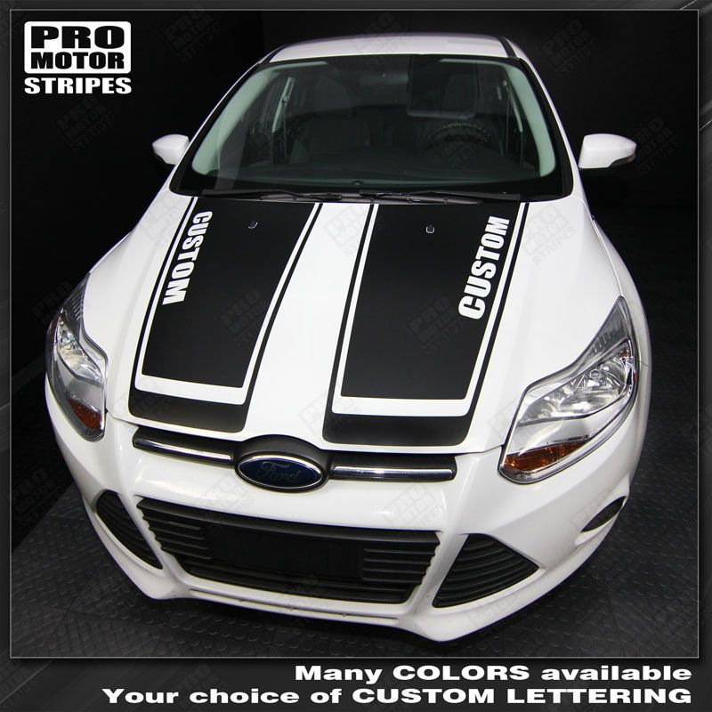 Ford Focus Hood Accent Stripes Decals 2011 2012 2013 2014