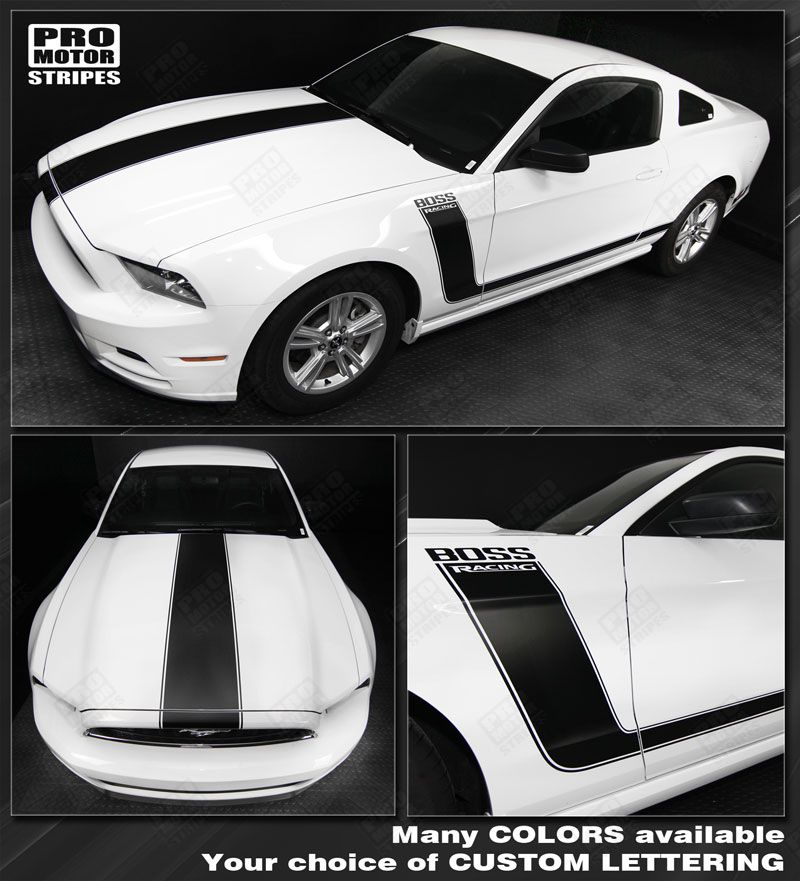 Ford Mustang Boss 302 Style Hood Amp Side Stripes Decals