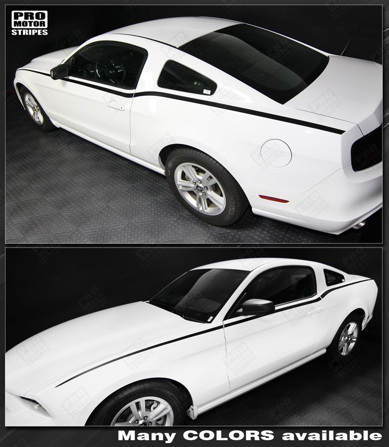 Ford Mustang 2010 2014 Ready2 Rock Side Accent Stripes Decals Choose Color Ebay
