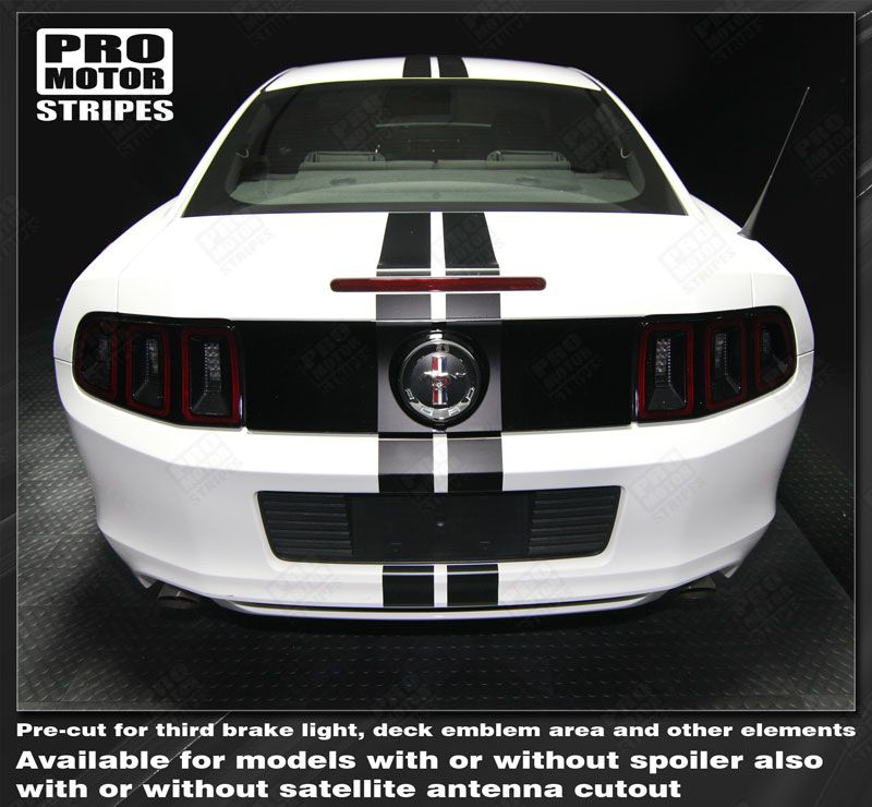 Ford Mustang 2013-2014 Pre-cut Over-The-Top Dual Center Stripes Choose Color