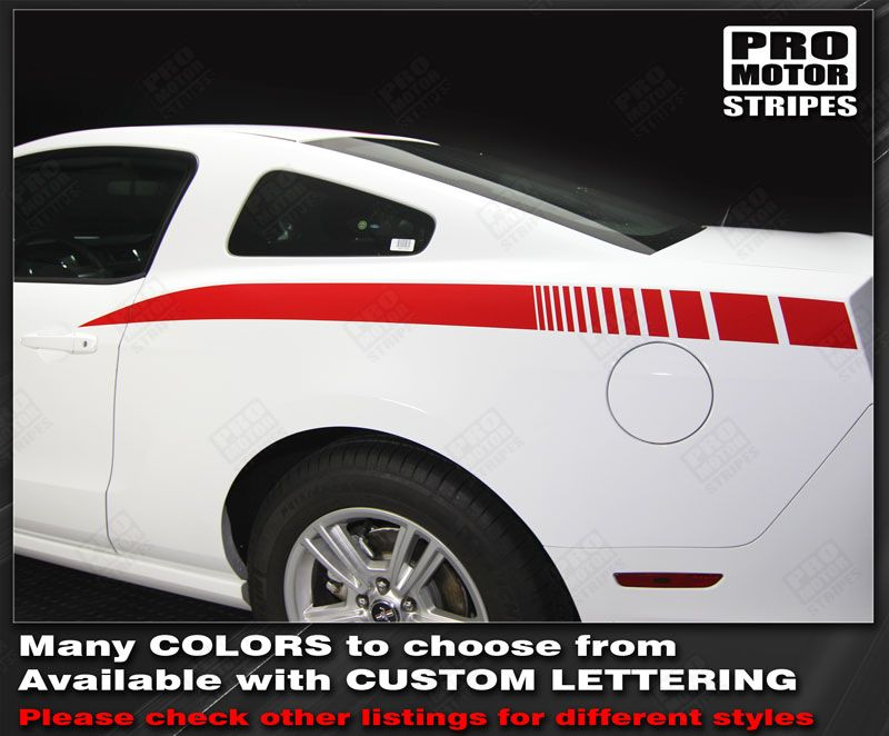 Ford Mustang 2015 2016 2017 Over The Top Sport Stripes Decals Choose Color