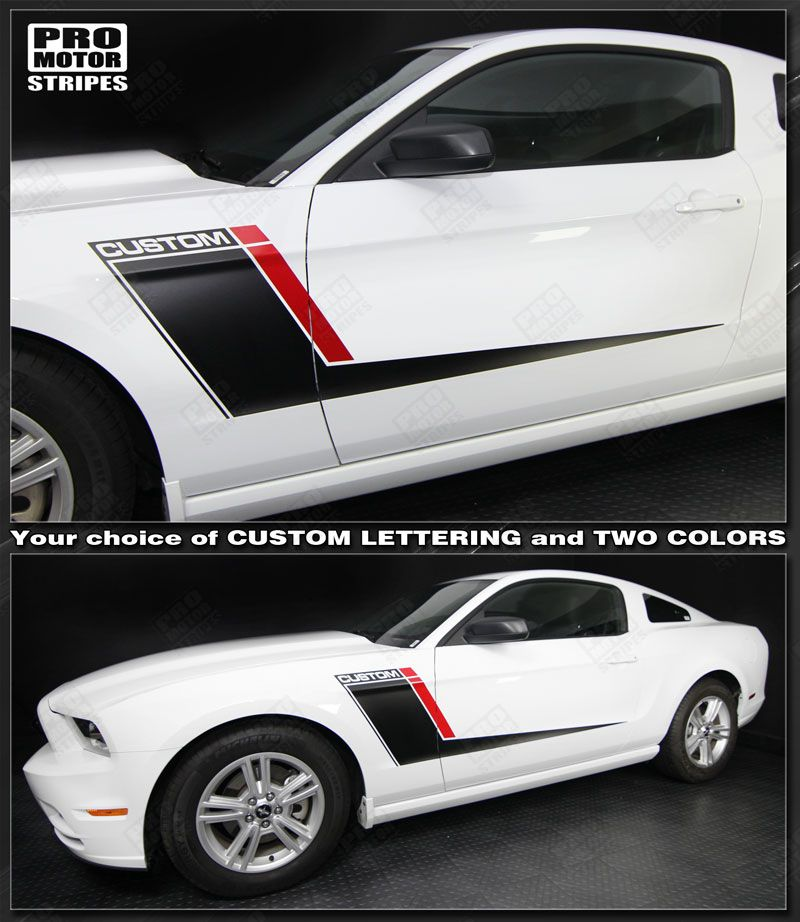 Ford Mustang Side Accent Stripes Duo Color Decals 2010