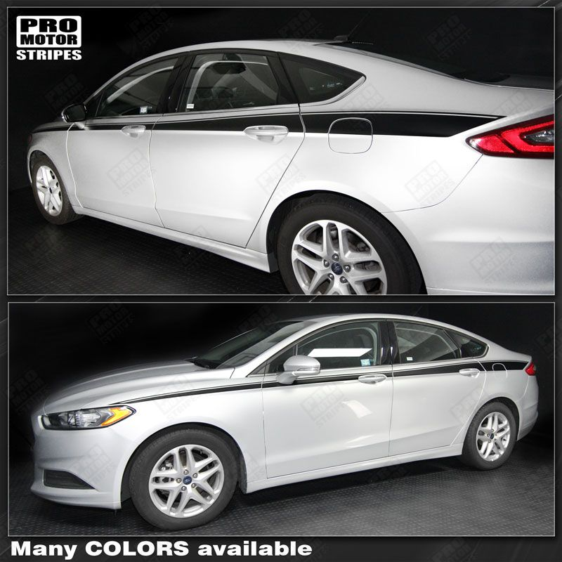 Ford Fusion Colors >> Details About Ford Fusion 2013 2019 Javelin Side Accent Stripes Decals Choose Color