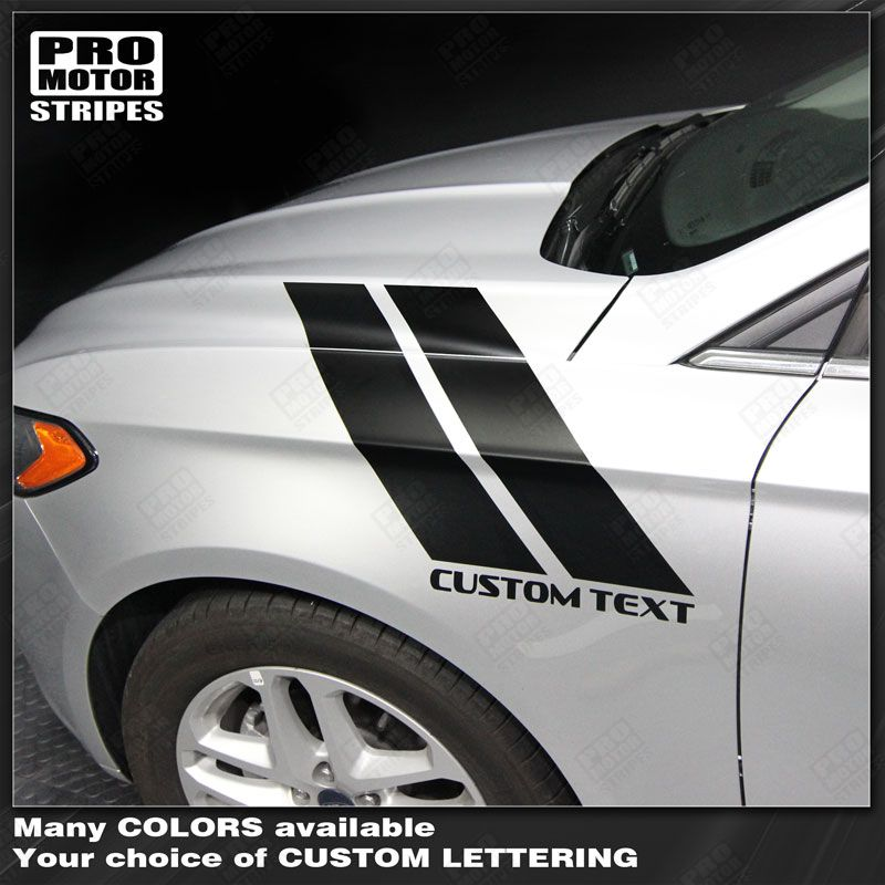 Choose Color FORD FUSION 2013-2019 Fender Hash Accent Side Stripes Decals