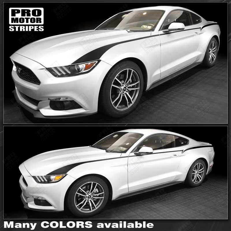 Choose Color Ford Mustang 2015 2016 2017 Front Bumper Highlight Accent Decal