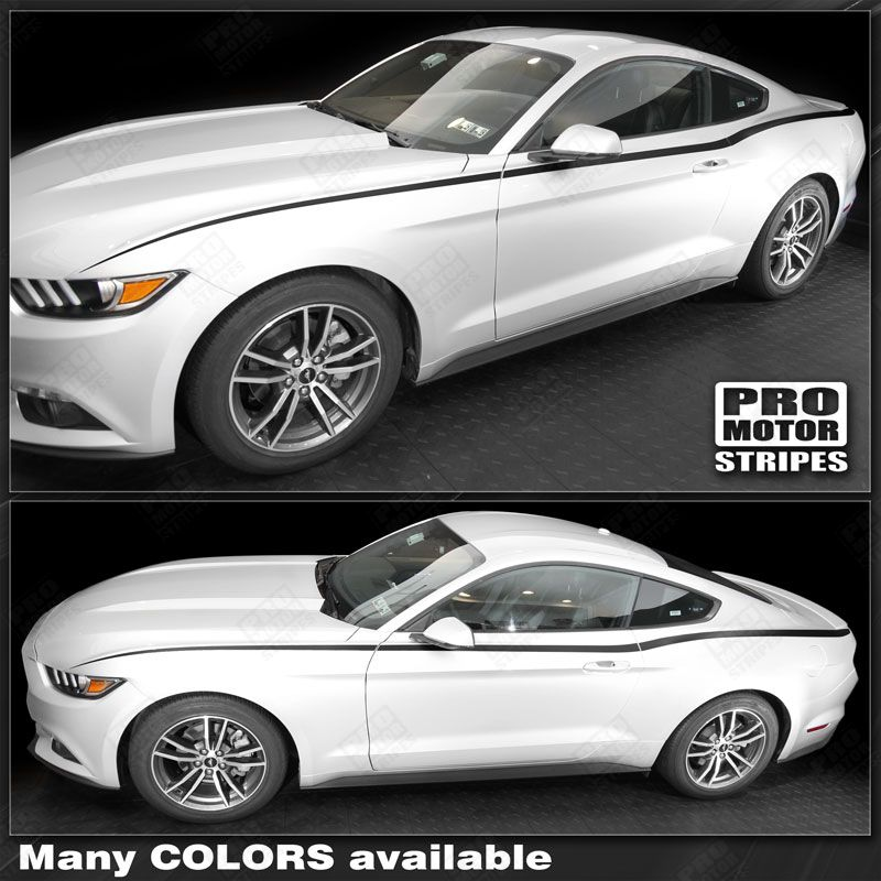 ford mustang 2015 2016 2017 rtr style side stripes decals choose