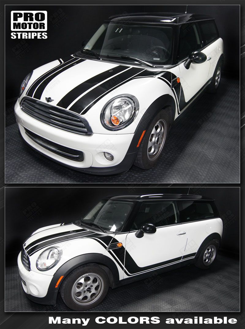 Mini Cooper Clubman Hood Amp Side Rocker Stripes Decals 2008