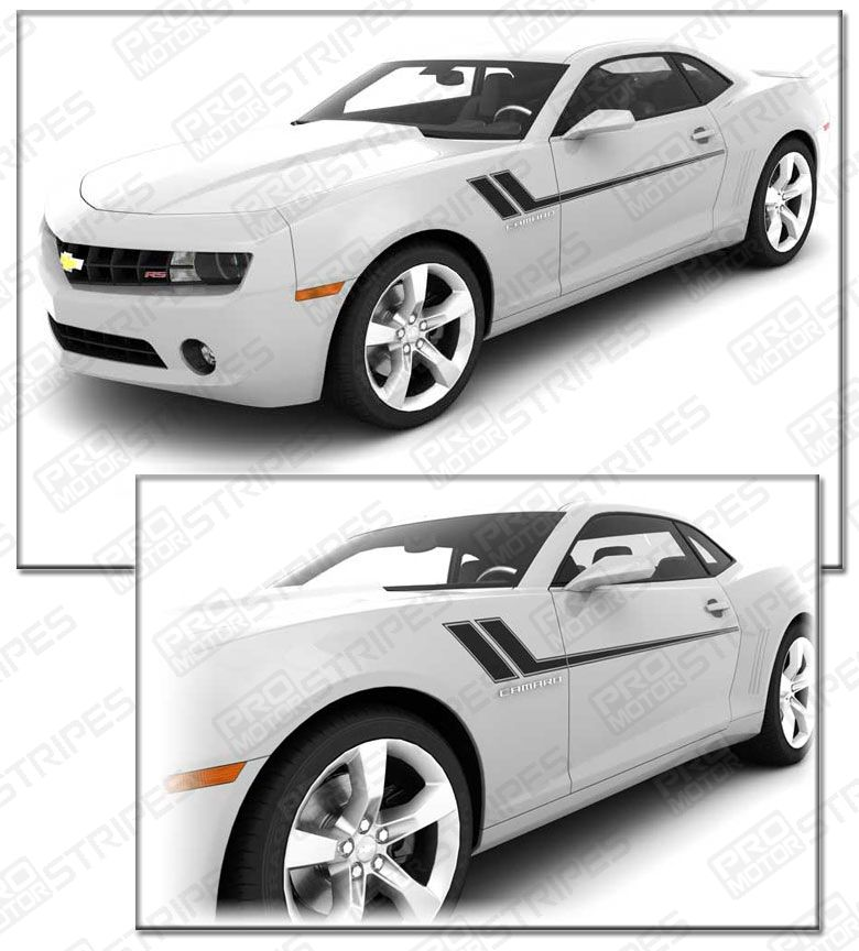 Chevrolet Camaro Hash Speed Side Accent Stripes Decals 2014 2015 Pro Motor