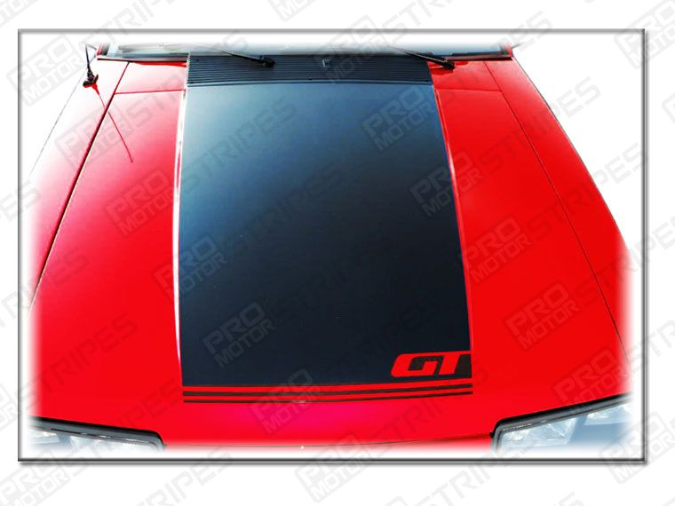 Ford Mustang 1985 1993 Gt Hood Stripe Fox Body Decal