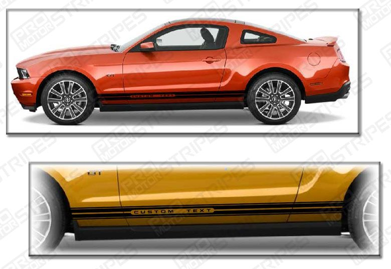 Ford Mustang Rocker Panel Side Stripes Decals 2015 2016 2017 Pro Motor